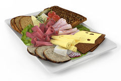 Platter. Plate of snack. Royalty Free Stock Photo