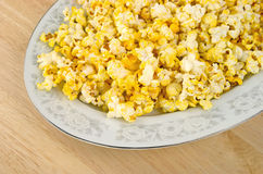 Platter of popcorn Royalty Free Stock Photos