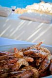 Platter of prawns. Stock Images