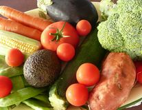 Platter of Raw Vegetables. Royalty Free Stock Images