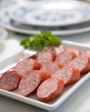 Platter of sausage Royalty Free Stock Photography