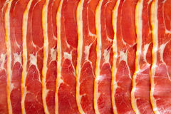 Platter of serrano ham jamon Cured Meat Royalty Free Stock Photography
