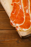 Platter of serrano ham jamon Cured Meat Royalty Free Stock Images