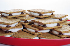 Platter of smores. Shot of a platter of smores Stock Photography