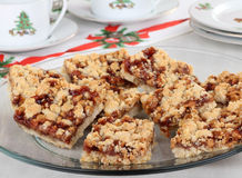 Platter of Strawberry Nut Bars Royalty Free Stock Photo