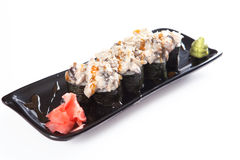 Platter of sushi rolls Royalty Free Stock Images