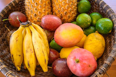 Platter of tropical fruits Stock Image