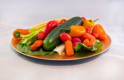 Platter of Vegetables Stock Images
