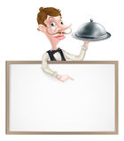 Platter Waiter Sign Royalty Free Stock Images