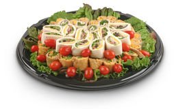 Platter of Wraps. Food Tray Royalty Free Stock Photo