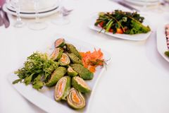 Photo of snack platters on the table stock photography