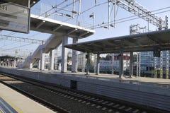 Plattform am Bahnhof in Adler, Russland Stockfotografie