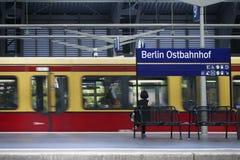 Plattform Berlin Railway Station Lizenzfreies Stockbild