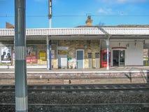Plattform der Chelmsford-Bahnstation stockfotos