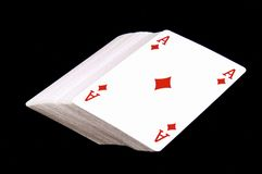 Plattform der Spielkarten stockfotografie