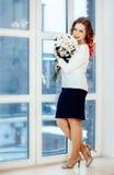 plattform fönster för flicka Royaltyfria Foton