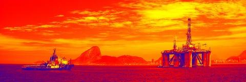 plattform för olja 25 Royaltyfri Foto