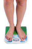 plattform för scales för badrumkvinnligben Royaltyfria Bilder