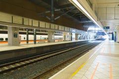Plattform för station Taiwan för snabb stång THSR arkivfoton