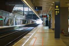Plattform för station Taiwan för snabb stång THSR fotografering för bildbyråer