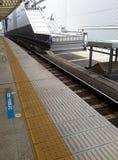 Plattform för Yokohama drevstation Arkivfoton