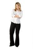 plattform kvinna för affär Royaltyfri Fotografi