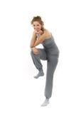 plattform kvinna för ben ett Arkivfoto