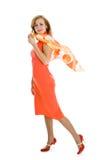 plattform kvinna för elegantt mode royaltyfria foton