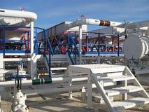 Plattform och trappa för stål tjänste- Arkivfoton
