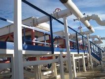 Plattform och trappa för stål tjänste- Royaltyfria Bilder