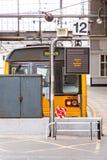 Plattform 12 på den Newcastle stationen arkivbild