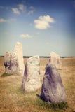 plattform stenar Arkivbild