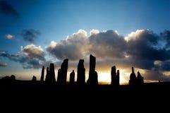 plattform stenar för callanish Fotografering för Bildbyråer