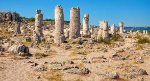 plattform stenar för panorama Arkivfoton