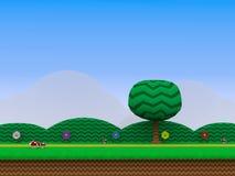 Plattform-Videospielhintergrund 3D Illustration lizenzfreie abbildung
