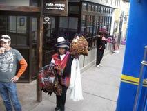 Plattform von Bahnhof Ollantaytambo (Ollanta) in Peru Lizenzfreie Stockfotografie