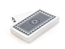 Plattform von Spielkarten Stockbild