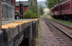 plattformsjärnväg Arkivbilder