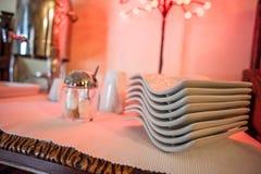 Plattor för frukost Royaltyfria Bilder