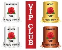 Plattor för Vip-medlemskapklubba Arkivfoton