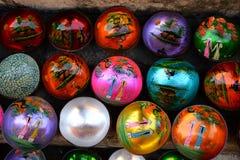 plattor från kokosnöten Bunke hantverk vietnam Fotografering för Bildbyråer