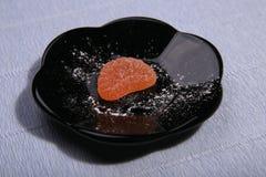 Plattor med sötsaker Marmelad på maträtten royaltyfria foton