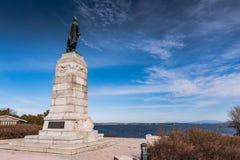 Memorial to Samuel Champlain Facing Lake Champlain Stock Image