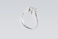 platyna karowy pierścionek Fotografia Stock