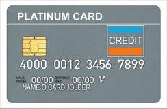 platyna karty kredytowej ilustracja wektor