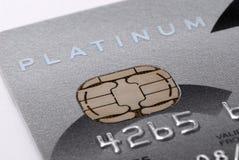 platyna karty kredytowej Obrazy Royalty Free