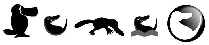 Стилизованное platypus Стоковые Изображения