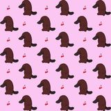 Platypus pattern. Platypus and cherrys are cool Royalty Free Stock Image