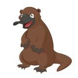 Platypus. Vector image of funny cartoon animal platypus Royalty Free Stock Photos