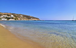 Platys Gialos beach Sifnos Greece royalty free stock images